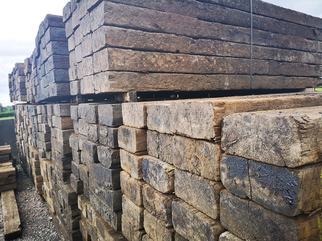 Reclaimed Railway Sleepers   The Strata Group New / Reclaimed ...